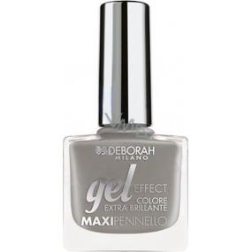 Deborah Milano Gel Effect Nail Enamel gelový lak na nehty 44 Dark Grey 11 ml