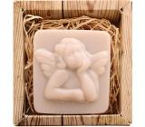 Bohemia Gifts & Cosmetics Anděl ručně vyráběné toaletní mýdlo v krabičce 80 g