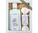 Bohemia Natur Blue Flower sprchový gel 200 ml + ručně vyráběné mýdlo 30 g, kosmetická sada