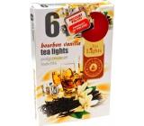Tea Lights Bourbon Vanilla s vůní bourbonu a vanilky vonné čajové svíčky 6 kusů