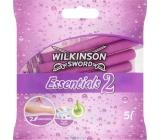 Wilkinson Essentials 2 jednorázový holicí strojek 2 břity 5 kusů