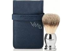 Dolce & Gabbana Štětka na holení pro muže s černým pouzdrem 15 x 8,5 x 4,5 cm