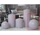 Lima Ice pastel svíčka světle fialová koule 100 mm