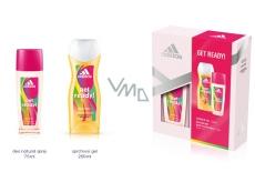 Adidas Get Ready! for Her parfémovaný deodorant sklo 75 ml + sprchový gel 250 ml, kosmetická sada