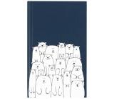 Albi Bloček kapesní linkovaný Medvědi 96 stran 9,5 cm x 15,5 cm x 0,9 cm