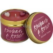 Bomb Cosmetics Rebarbora a růže - Rhubarb & Rose Vonná přírodní, ručně vyrobena svíčka v plechové dóze hoří až 35 hodin
