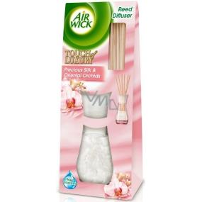 Air Wick Reed Diffuser Precious Silk & Oriental Orchids - Vzácné hedvábí a orchideje z orientu vonné tyčinky osvěžovač vzduchu 30 ml
