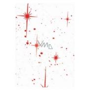 Ditipo Celofán v roličce červené hvězdy 250 x 70 cm
