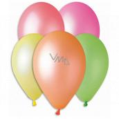 Balónky Neonové mix barev 26 cm 10 kusů