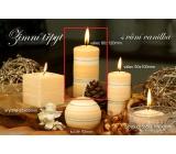 Lima Zimní třpyt Vanilka vonná svíčka válec 60 x 120 mm 1 kus