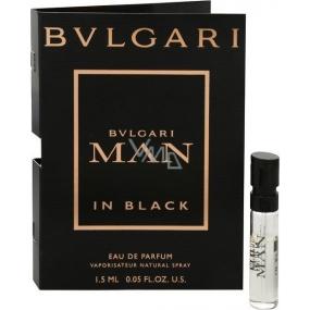 Bvlgari Man In Black parfémovaná voda 1,5 ml s rozprašovačem, Vialka