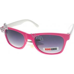 Dudes & Dudettes JK417 s bílou mašličkou sluneční brýle pro děti