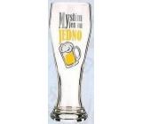 Nekupto Dárky s humorem Pivní sklenice humorné Myslím jen na jedno 0,6 l