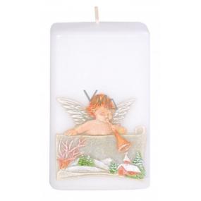 Candle Anděl s trumpetou vonná svíčka hranol 50 x 80 mm