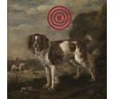 Bohemia Gifts & Cosmetics Dekorační obraz na zavěšení Terč pes 30 x 30 cm