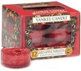 Yankee Candle Red Apple Wreath - Věnec z červených jablíček vonná čajová svíčka 12 x 9,8 g