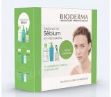 Bioderma Sebium H2O pleťová voda 500 ml + Mousant čistící pěnový gel 200 ml + tampony, kosmetická sada