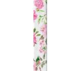 Nekupto Dárkový balicí papír 70 x 150 cm bílý růžové květy 930 30