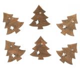Stromky dřevěné na kolíčku 4 cm, 6 kusů