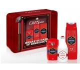 Old Spice Captain Grooming Tin antiperspirant deodorant stick pro muže 50 ml + sprchový gel 250 ml + balzám po holení 100 ml kosmetická sada