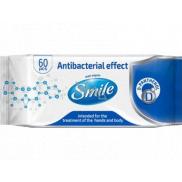 Smile Wet Wipes vlhčené ubrousky na ruce a tělo s antibakteriálním efektem 60 kusů