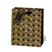 BSB Luxusní dárková papírová taška 23 x 19 x 9 cm Art Deco LDT 412 - A5
