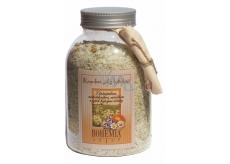 Bohemia Gifts & Cosmetics Heřmánek a mateřídouška a měsíček a jejich hojivými účinkysůl do koupele 1,2 kg