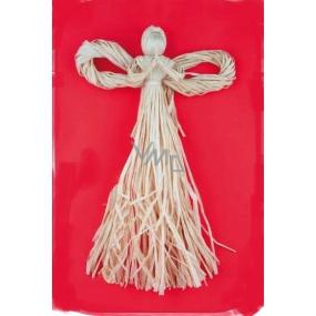 Anděl z palmového šustí 32 cm