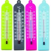 Schneider Teploměr Plastik Color interiérový 17,8 x 3,3 cm různé barvy 1 kus