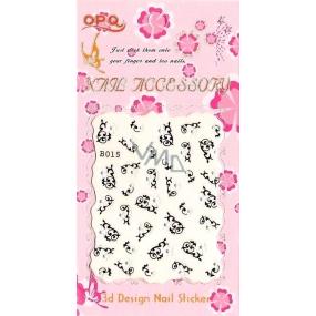 Lily Angel 3D nálepky na nehty 10120 B015 1 aršík