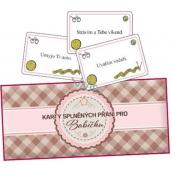 Bohemia Gifts & Cosmetics Karty splněných přání pro babičku 20 kusů karet