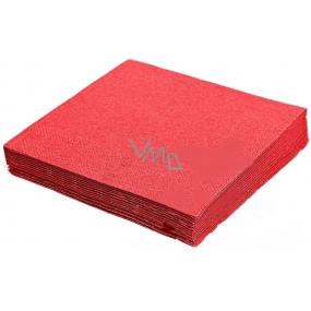 Gastro Papírové ubrousky barevné červené 2 vrstvé 33 x 33 cm 50 kusů