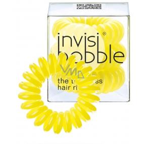 Invisibobble Submarine Yellow Sada Gumička do vlasů žlutá spirálová 3 ks