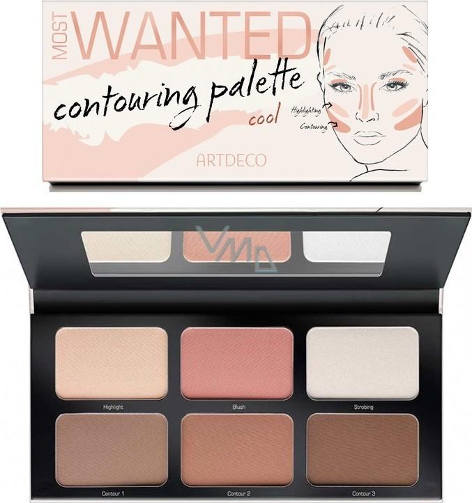 Artdeco Most Wanted Countouring Palette konturovací paleta 01 Cool 6 x 4,3 g