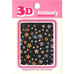 Nail Accessory 3D nálepky na nehty 10100 A28 1 aršík