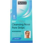 Beauty Formulas Deep čistící náplasti na nos 6 kusů