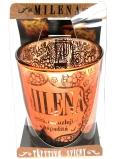 Albi Třpytivý svícen ze skla na čajovou svíčku MILENA, 7 cm