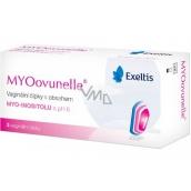 Exeltis MYOovunelle vaginální čípky s obsahem myo-inositolu s pH 6, vytváří optimální podmínky pro napomáhající oplodnění vajíčka 3 kusy