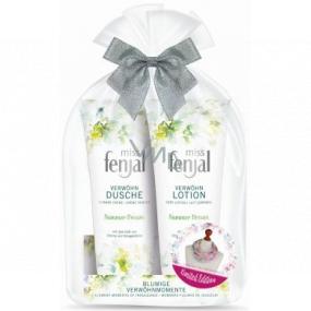 Fenjal Miss Summer Dream sprchový gel pro ženy 200 ml + tělové mléko 200 ml + šátek 1 kus, kosmetická sada