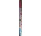 Ditipo Dárkový balicí papír 70 x 200 cm Vánoční Disney Princezny růžový