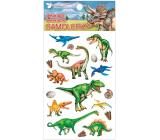 Samolepky plastické Dinosauři 10,5 x 19 cm