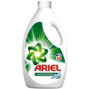 Ariel Mountain Spring tekutý prací prostředek pro krásně čisté a voňavé prádlo bez skvrn 50 dávek 3,25 l