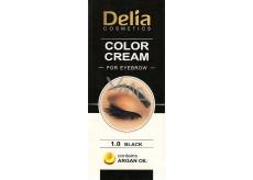 Delia Cosmetics Color Cream barvící krém na obočí s arganovým olejem 1.0 Black 15 ml + 15 ml