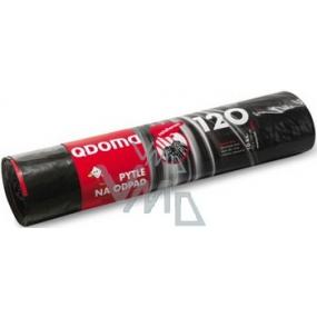 QDoma Pytle na odpad černé zatahovací 120 litrů, 70 x 100 cm, 10 kusů