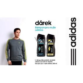 DÁREK Adidas Extra Pure proti lupům šampon pro mastné vlasy pro muže 200 ml