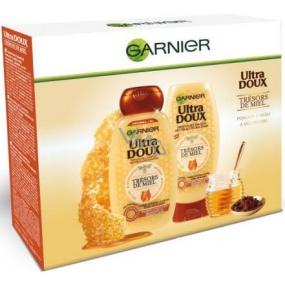 Garnier Ultra Doux Trésors de Miel šampon pro oslabené a lámavé vlasy 250 ml + balzám pro oslabené a lámavé vlasy 200 ml, kosmetická sada