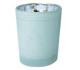Svícen skleněný bílý 6,5 cm č.1