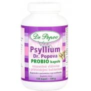 Dr. Popov Psyllium Slim PROBIO pro zdravou střevní mikroflóru, obohacená o přátelské bakterie. kapsle 120 kusů