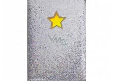 Albi Blok holografický linkovaný na gumičku Hvězda glitr 19,5 x 14,2 x 1,5 cm