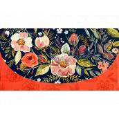 Nekupto Přání obálka na peníze Modro-červená s květy 116 x 220 mm